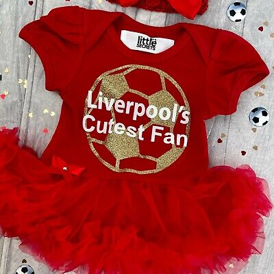 BABY GIRLS LIVERPOOL'S Cutest Fan FOOTBALL outfit NEWBORN Gift Love Daddy's Girl