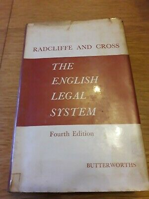Radcliffe; Cross; The English Legal System. Butterworth 1954 Fair