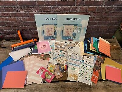 CRAFT Scrapbook LOT Crafting Idea Book Cards Paper Scrapbooking
