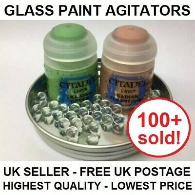 50x Glass Paint Agitators citadel army painter vallejo game workshop mixing ball