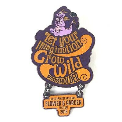 Epcot Flower & Garden Festival 2019 Annual Passholder Figment Dangle Disney Pin