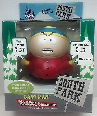 Comedy Central South Park CARTMAN TALKING DESKMATE figure with Display Base 1998