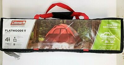 b1de7947dc0  NEW  Coleman Flatwoods II Dome Tent Weather and Wind Resistant 4 Person -  RED