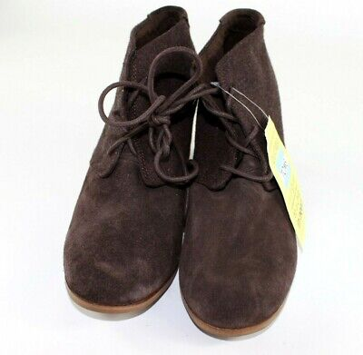 8528ead7c92 Toms Women s Chocolate Brown Suede Lunata Lace-up Booties Shoes New Ankle  Boots