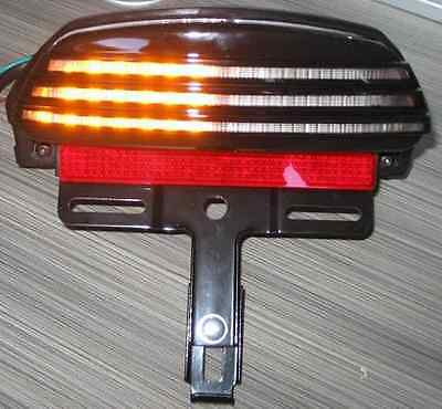 HARLEY  TAIL LIGHT & INDICATORS TRIBAR fit FAT BOB Model