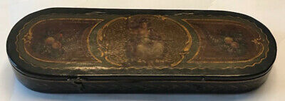 Extremely Rare 18th Century Scale Box In Nicely Painted Vernis Martin Box