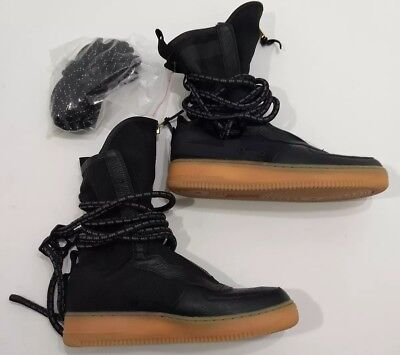 Nike Womens Size 12 Special Field SF Air Force 1 One High Black Shoes AA3965 0b8f24f19c