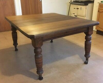 Victorian Oak Country Kitchen Dining Table C1870 Antique