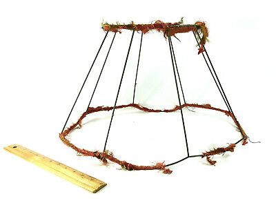 Lamp Shade Wire Frame Antique Original Large for Table Floor Hanging 1930s