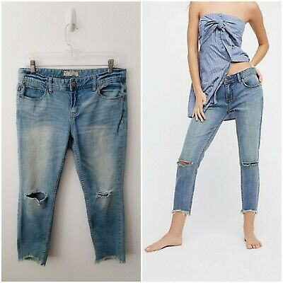 7ed2149d3e7 WILLIAM RAST SKINNY Ankle Crop Pants Jeans Women s Size 29 Solid ...