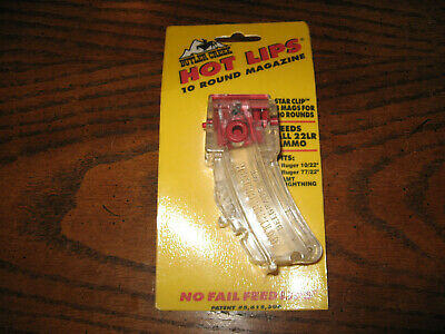 Ruger 10/22 Hot lips 10 rd magazine .22 clear star clip mag butler creek