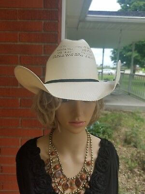JUSTIN MILANO HAT Co Mens Cowboy Hat Size 6 7 8 Tan 20x Brush Hog ... 2e53772b2b05