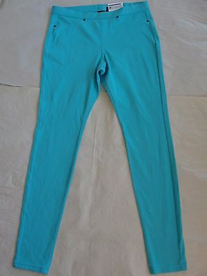 0b52055cbcd NWT  44 Hue Women The Original Denim Leggings Sz M Blue Curacao U13360
