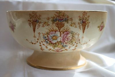 Antique Devon Ware Fieldings Stoke On Trent Big Bowl