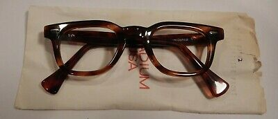Vintage AUTHENTIC American Optical Stadium Tortoise 42/22 Eyeglass Frame NOS