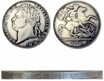 RESTRIKE 1821 George IIII IV  Silver PLATED Coin Side Inscription King