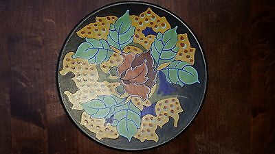 Rare Regina Lotus Gouda Holland Dutch Pottery Plate 1925 Plateel Art Deco