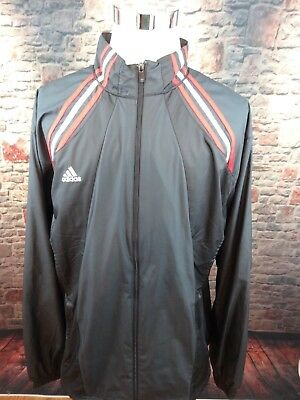 243b37412c5ff ADIDAS CLIMALITE LONG Sleeve Blue Red White Track Jacket Zip Up Mens Size  2XL