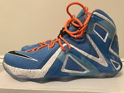 quality design 0b87c e2ab0 Nike AIR LEBRON XII 13 - 8 Elite New York Knicks Gators Orange Blue Red 12  11 10