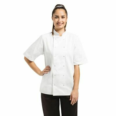 Whites Vegas Chefs Jacket with Short Sleeves in White - Polycotton - M