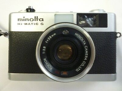 VINTAGE MINOLTA H-MATIC G Film Camera with Soft Case VG Condition