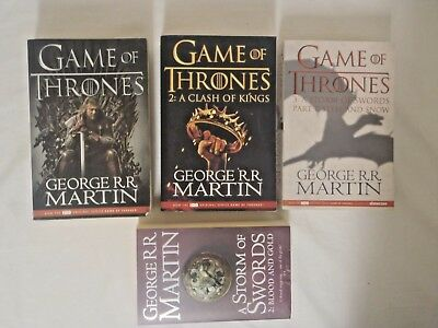 Game of Thrones - George R. R. Martin - Books x 4  Lot - Bundle