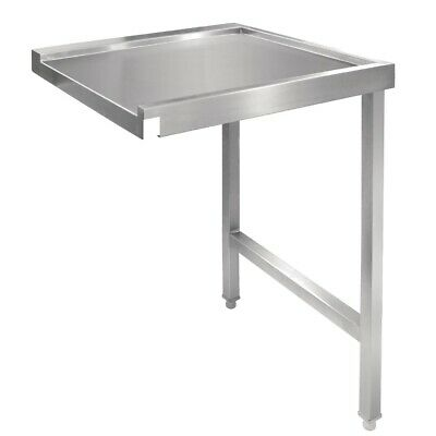 Vogue Pass Through Dishwash Table Left 1100mm Stainless Steel Kitchens