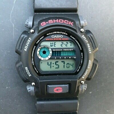 CASIO G-Shock DW-9052-1V (3232) Black w/ Red 45mm Men's Sports wristwatch