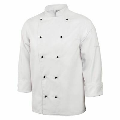 Whites Chicago Chef Jacket - Long Sleeves - White & Black Buttons - XS