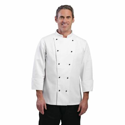 Whites Chicago Chef Jacket - Long Sleeves - White & Black Buttons - XXL