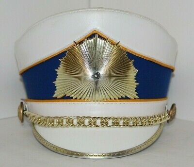 e5e3100aef3 DeMoulin Marching Band Hat Scoop Top Shako with Gold Glory Sunburst emb -  Size M
