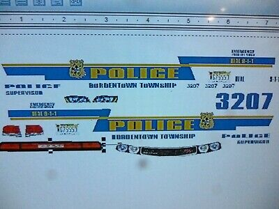 Cars, Trucks & Vans Cherry Hill New Jersey POLICE Vehicle Decals 1