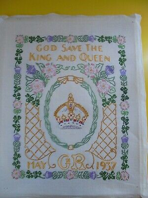 Coronation 1937 Embroidered Sampler