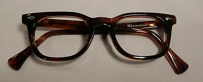 Vintage AUTHENTIC American Optical Stadium Tortoise 48/22 Eyeglass Frame NOS