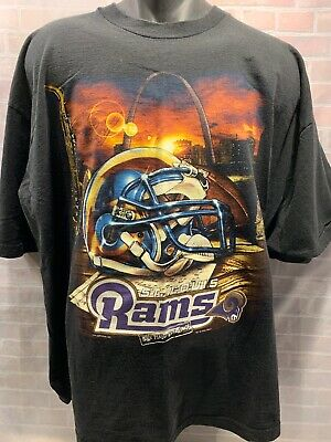ed78e32f8 Vintage St Louis RAMS Football NFL 2000 T-Shirt Size 2XL Los Angeles