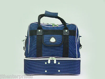 Lawn Bowls Bag Holds 4 Lawn Bowls & Gear With Shoe Pocket Carry Bag Grip Style