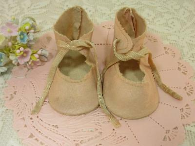 """German bisque doll  1 1//2/"""" long sz10 French antique style shoes for French"""