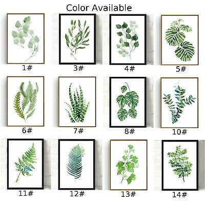 Green Plants Canvas Art Print Poster Leaf Painting Wall Pictures DIY Decor 2019