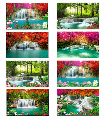 Waterfall Landscape Wall Art Picture Print Painting Canvas Living Room Home Deco