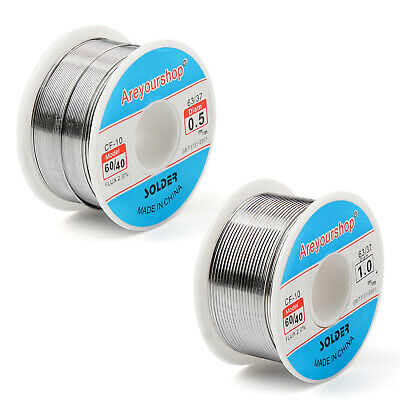 Areyourshop 0.5 1.0mm 100g 60/40 Tin Lead Souder Wire Soldering Flux 2.0% AF