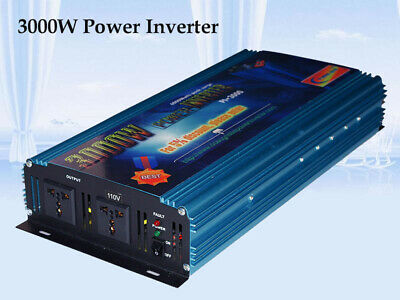 6000W Max 3000W Modified Sine Wave Power Inverter 12V DC/110V AC Power Tools RV