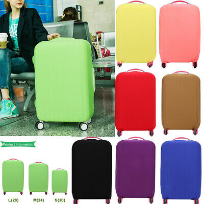 """18"""" ~ 30""""Travel Luggage Cover Protector Elastic Suitcase Dust-Proof Pure Color"""