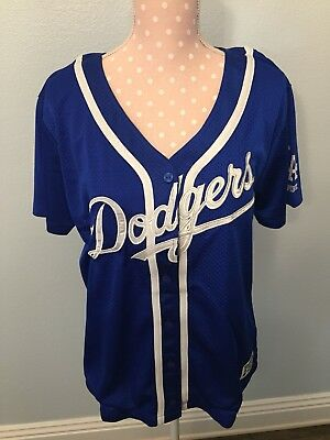 f6e142a7b9d6b VICTORIA S SECRET PINK mlb LA LOS ANGELES DODGERS jersey button Blue In A  Bag M