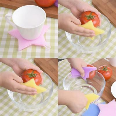 BS Silicone Star Cute Shape Fruits Vegetables Bowl Scrubber Clean Brush Tool