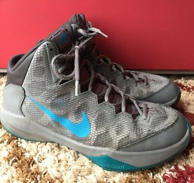 8f567174a67 Nike Zoom Without A Doubt 749432-201 Blue   Gray Basketball Shoes SIZE 10  Men s