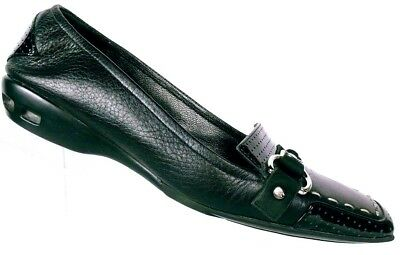 21b7a9b2bc5 Cole Haan Air Women s Bronte Black Leather Moc Toe Loafer Shoes Size ...