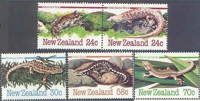 New Zealand 1984 AMPHIBIANS AND REPTILES (5) Mint Unhinged SG 1340-4
