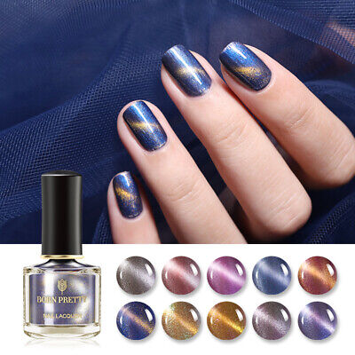 BORN PRETTY Pearlescent Magnetic Nail Polish Shiny Glitter Cat Eye Nail Varnish