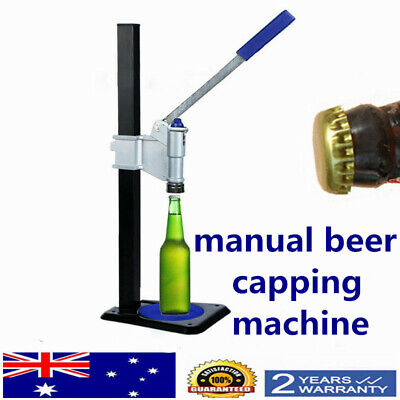 Manual Bottle Machine Brew Bottle Cap Machine For Soft drinks beer AU SHIP