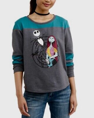 New Disney Nightmare Before Christmas Women's Long Sleeve Shirt Top M 7-9 Junior